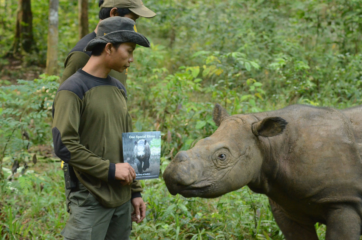 Andatu Gets a Look at his Book