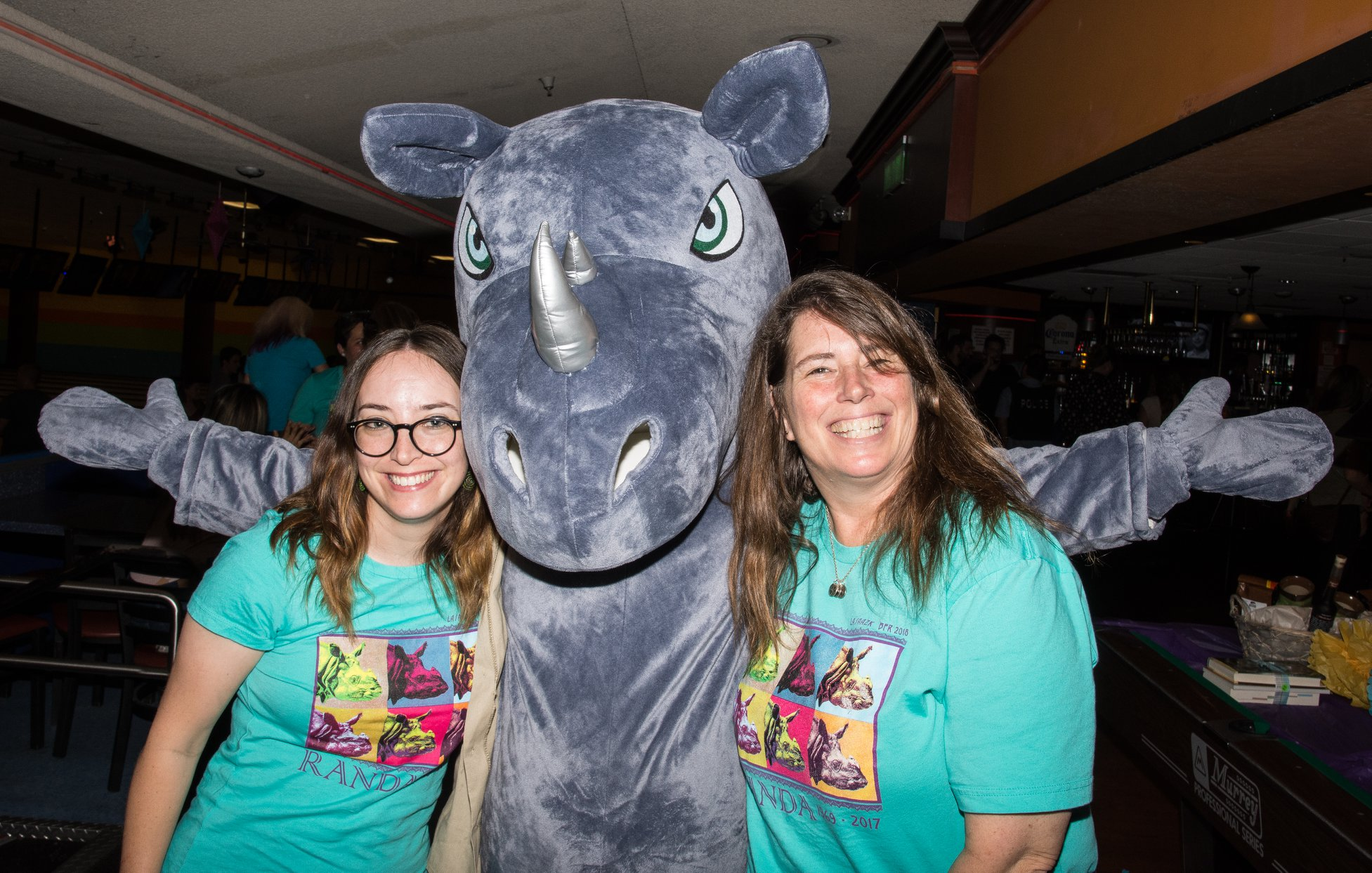 Bowling for rhinos, rhino conservation, AAZK, Los Angeles Zoo,