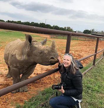 International Rhino Keeper Association Vice President with white rhino