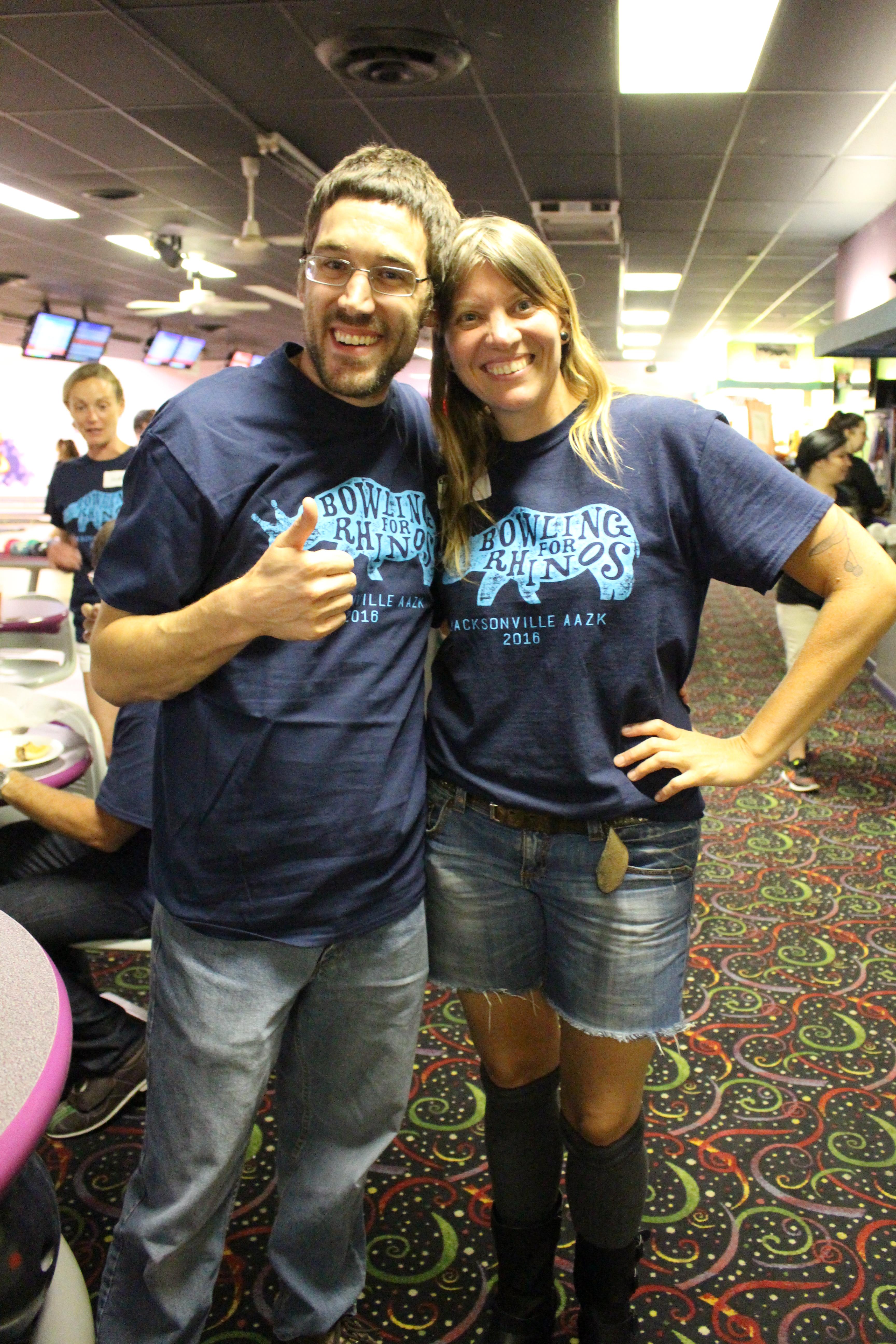 Bowling For Rhinos, rhino conservation, Jacksonville Zoo, rhino shirt