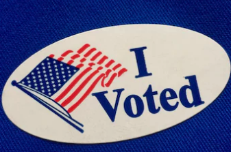 Vote, I voted sticker