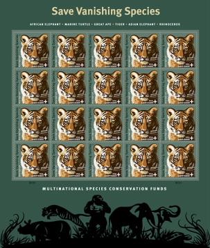 Save Vanishing Species tiger stamps