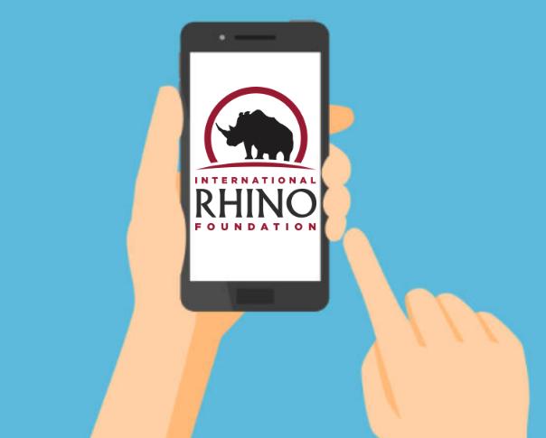 phone, rhinos, IRF, International Rhino Foundation, Conservation